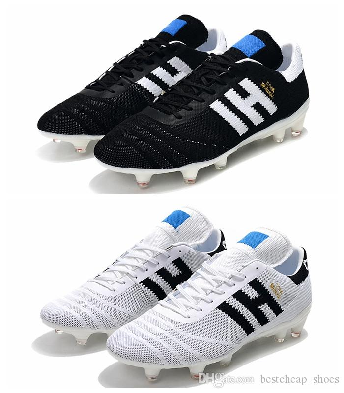 Copa 70Y FG Black White Red 70 Year limited-edition Mens Primeknit Copa Mundial Soccer Football Shoes Boots Cleats taquets Size 36-45