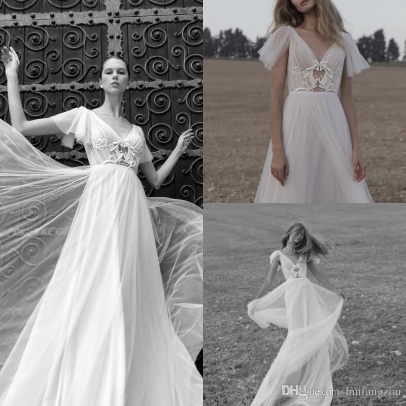 fa0273e9d4 Discount 2019 Sexy Boho Wedding Dresses V Line Illusion Lace Backless Bridal  Gowns Vestido De Novia Beach Wedding Dress Cheap Lace Wedding Dresses Short  ...