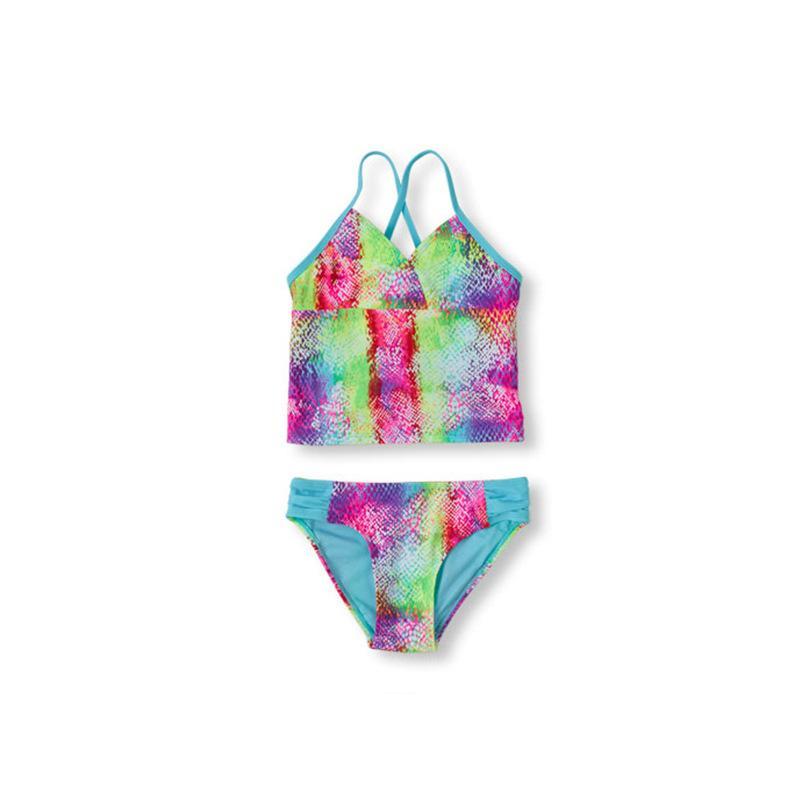 2019 Купальник для девочек из двух частей Детский купальный костюм Летний стиль для девочек Плавание Пляжная одежда из двух частей Костюм UPF 50 + CZ911