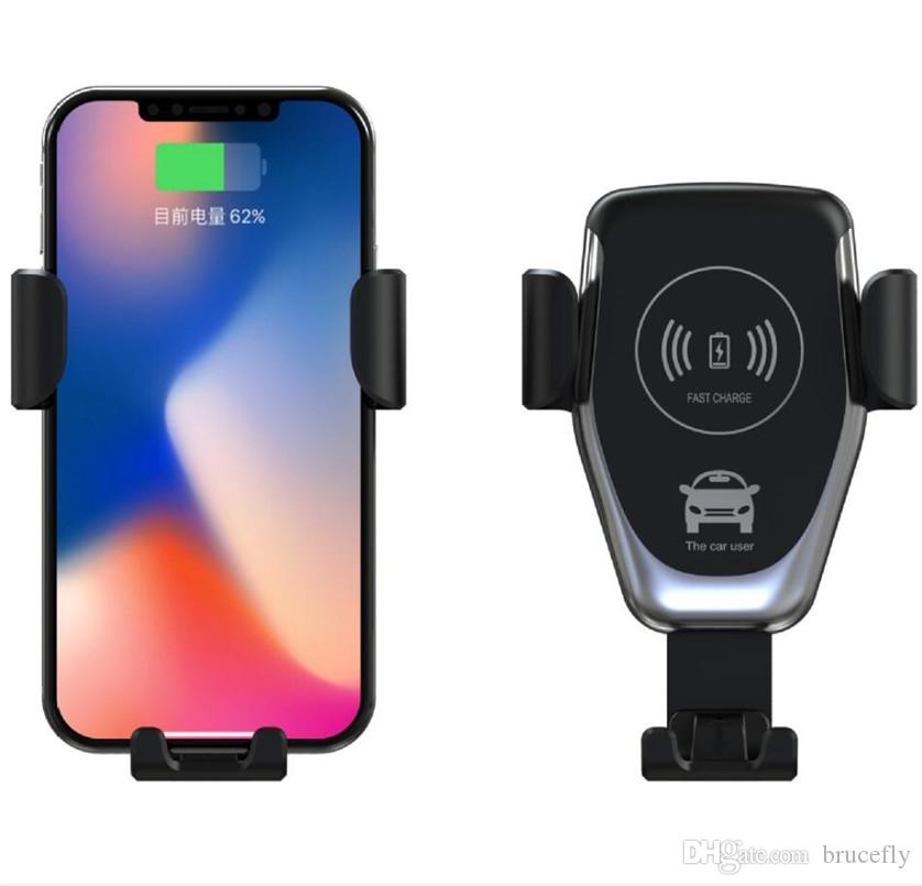 new styles 260a8 24c90 10W QI Wireless Fast Charger Car Mount Holder Stand For iPhone XS Max  Samsung S9 For Xiaomi MIX 2S Huawei Mate 20 Pro Mate 20 RS