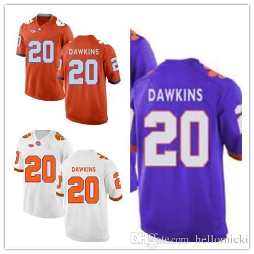 los angeles abdbd a928e Clemson Tigers jerseys #20 Brian Dawkins Women's Youth jersey orange White  Blue American College Football Jerseys Embroidery size S-3XL