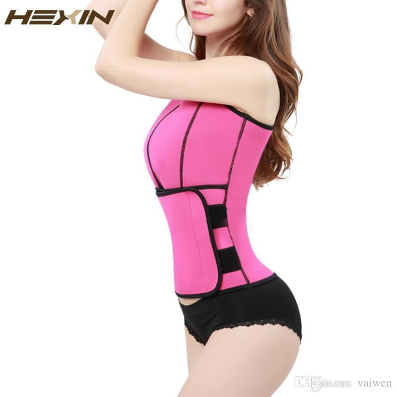 2cd5158ed7 Wholesale- HEXIN Neoprene Sauna Waist Trainer Vest Hot Shaper Summer ...