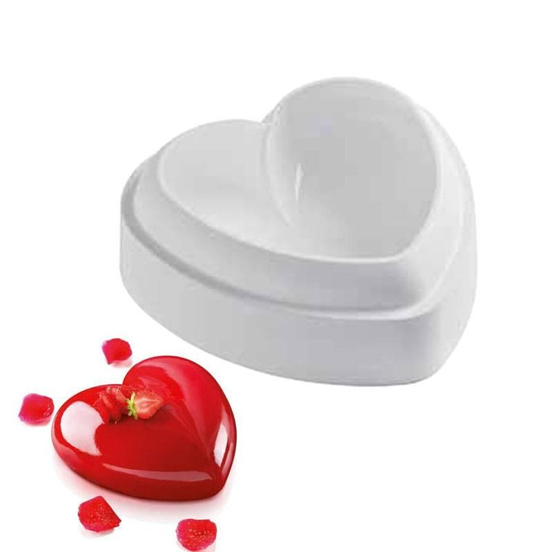 2019 non stick silicone love heart shape cake mold amore baking tool