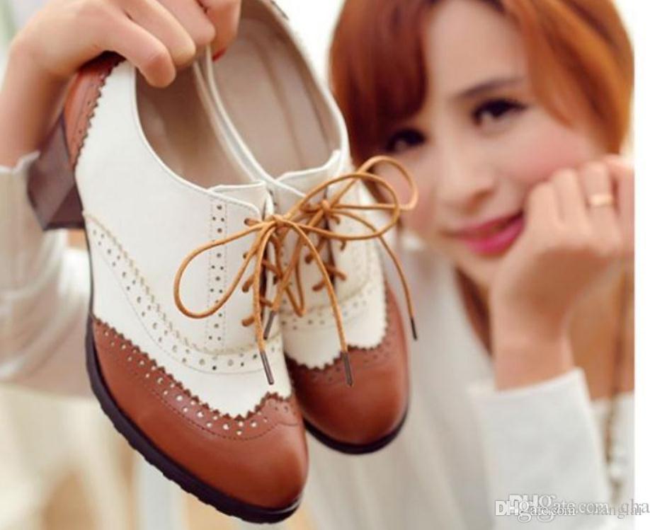 a16cb185d Compre 2018 Moda Sapatos Femininos Na Primavera E No Outono Com O Novo  Estilo Médio Calcanhar Grosso Calcanhar Arder De Changlai, $49.25 |  Pt.Dhgate.Com