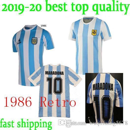 b9c663214 2019 Top Quality 1978 1986 Retro Argentina Soccer Jersey MARADONA 78 86  Retro Football Shirt From Wuqiliaang5678, $17.22 | DHgate.Com