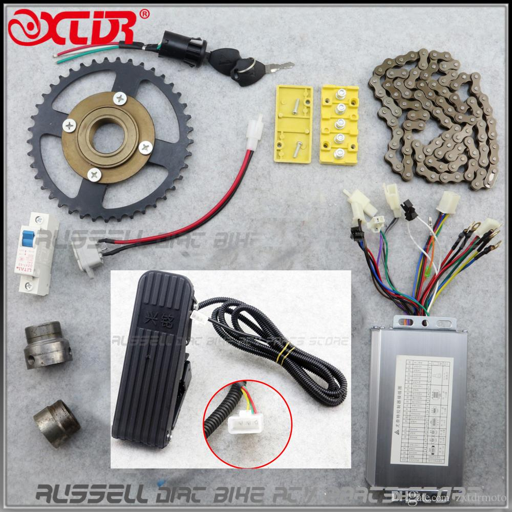 BM1418ZXF 48V 500W Brushless Motor with Pedals Throttle Electric Bicycle kit tricycle DIY E-tricycle E-trishaw Go kart ATV