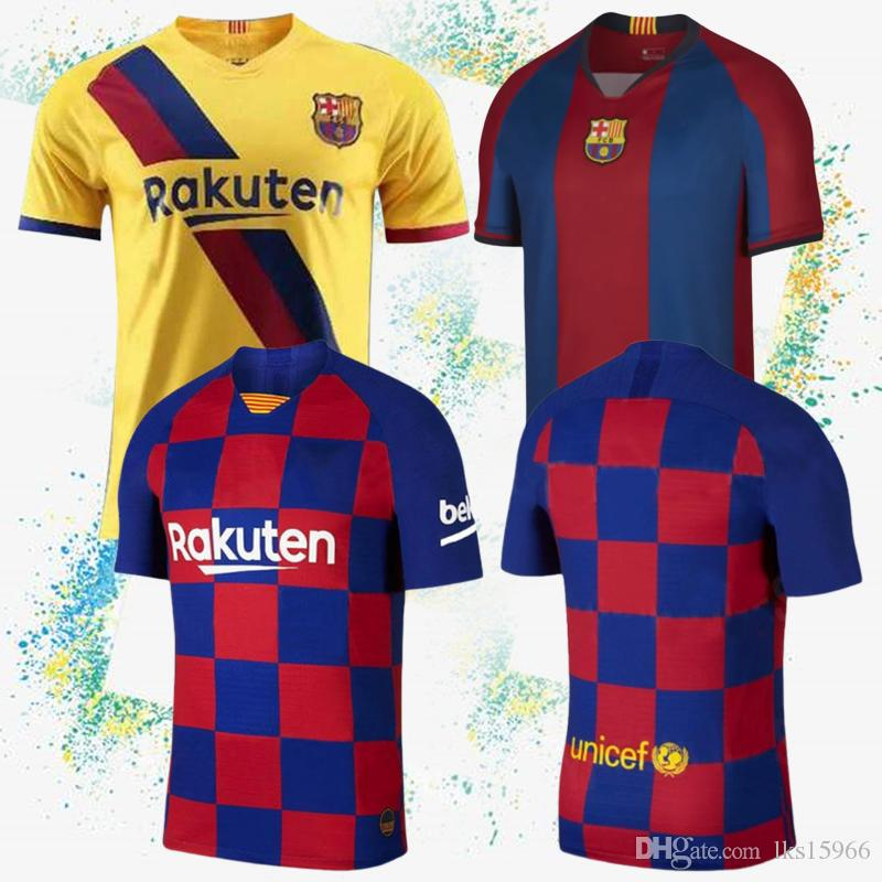 wholesale dealer 4a3f6 a5bfd 19/20 FC Barcelona Soccer jersey MESSI Jersey 7 COUTINHO 9 SúAREZ  customizable football suit cheap and fine