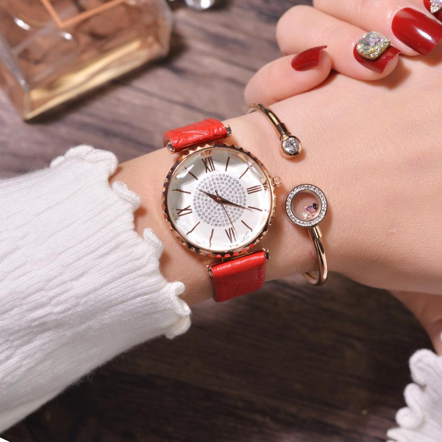 NEW Brand 2019 Fashion Women Watches Elegant Luxury Women Stylish Crystal Ladies Wristwatches With Bracelet Female Quartz Clock