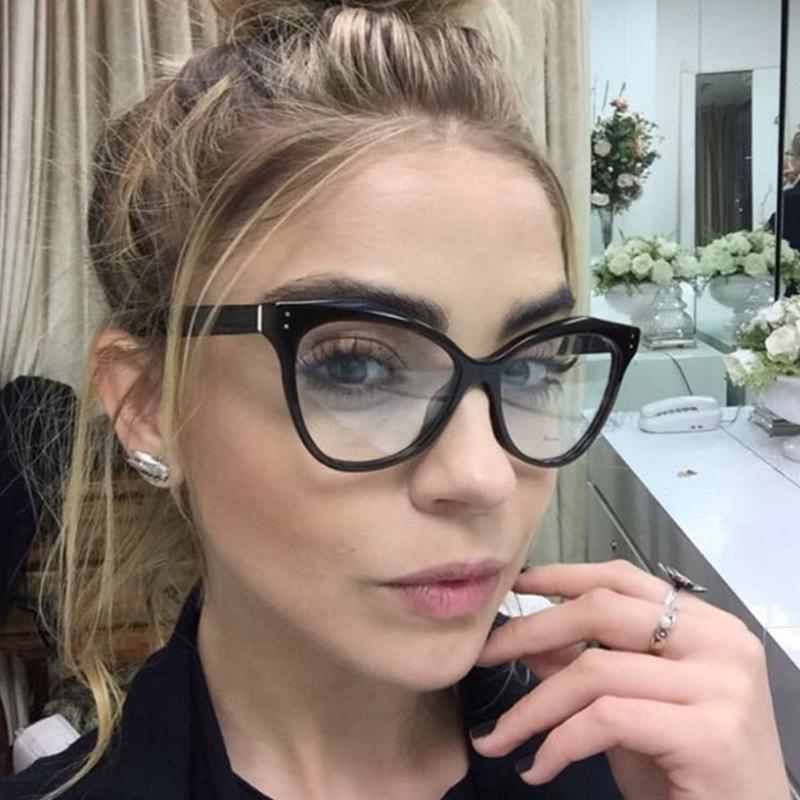 d7ca0c9df3 Compre Gafas Ópticas De Acetato Con Estilo De Moda Para Mujer Gafas Con  Montura Para Mujer Gafas Graduadas Gafas Con Montura De Ojo De Gato A  $38.93 Del ...
