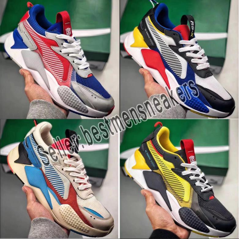 2019 puma rs x Hommes Femmes RS X Reinvention Running System Blanc Noir Bleu Rouge Jaune Chaussure De Papa Athlétique Mode Baskets Jogging Chaussures