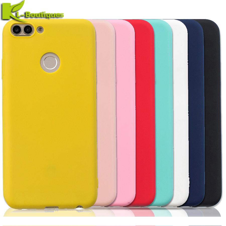 diversamente 05ec8 01d2c Psmart Case On Sfor Coque Huawei P Smart Cover For Huawei P Smart Enjoy 7s  Colorful Candy Soft Silicone Protector Phone Cases