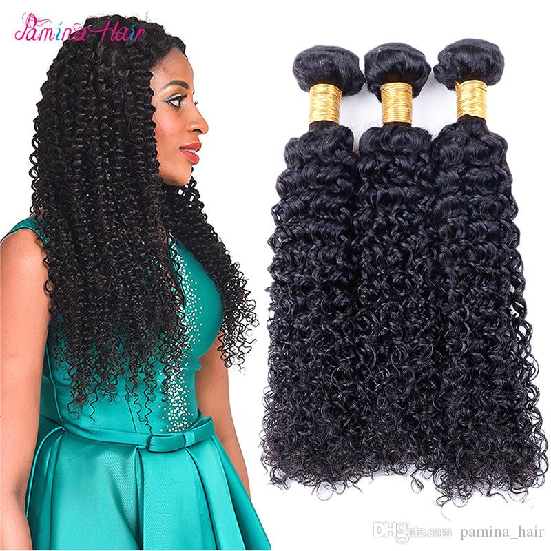 8A Afro Kinky Curly Hair Natural Color 8-30Inch Brazilian Hair Weave Bundles Virgin Remy Human Hair afro kinky curly Free Shipping