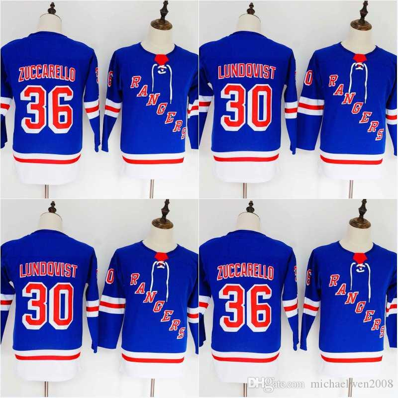 separation shoes 002a2 b5dd2 Women/Youth New York Rangers Jersey 30 Henrik Lundqvist 36 Mats Zuccarello  Hockey Jerseys High Quality Free Shipping