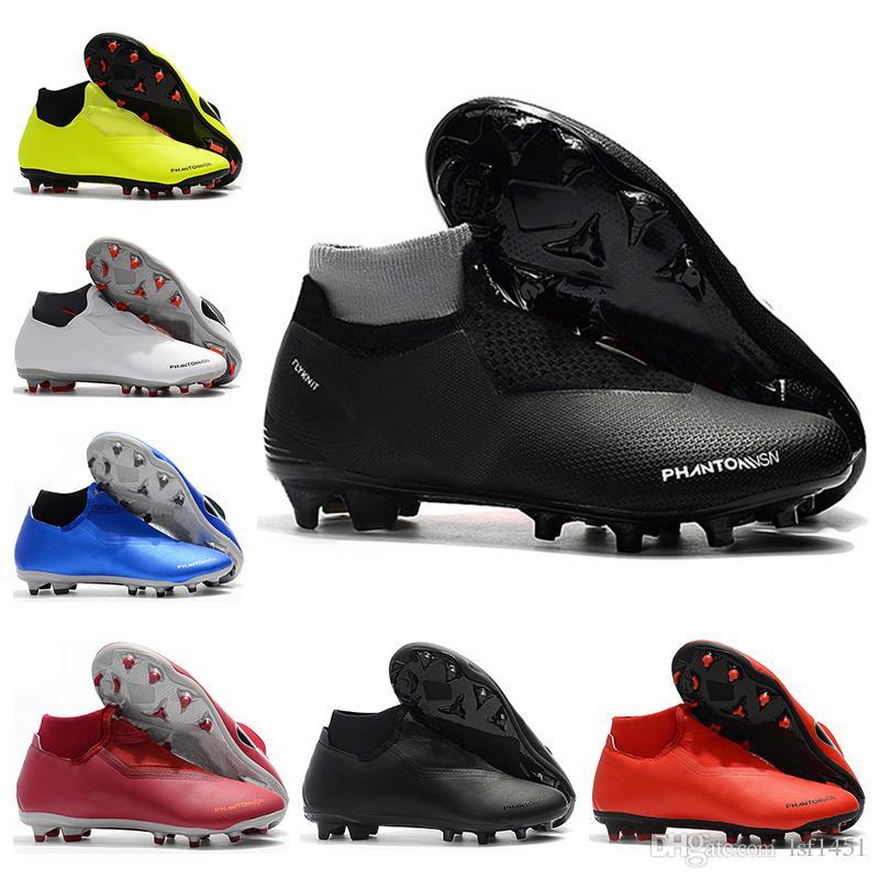 d243fb310f2 New Mens High Ankle Football Boots Phantom Vision Elite DF FG Soccer ...