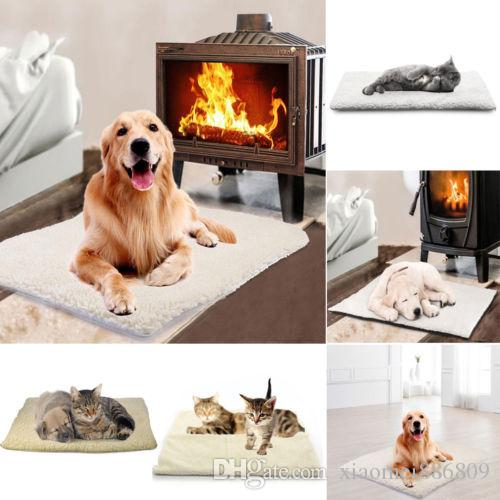 Home Pet Bed for Dog Cat Crate Mat Soft Warm Pad Liner Home Indoor Outdoor Warmer Bed