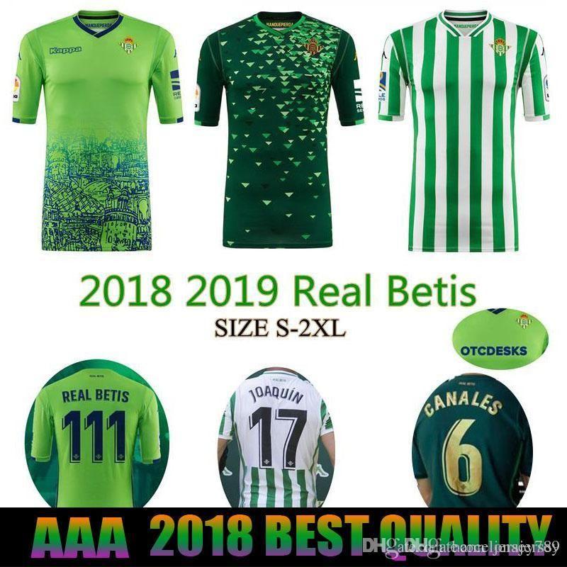 Compre 2018 2019 REAL BETIS Camisola De Futebol 18 19 Em Casa Ausente 3  JOAQUIN WILLIAM BOUDEBOUZ C. TELLO A. GUARDADO De Jersey773 5fdc8bfadc6aa