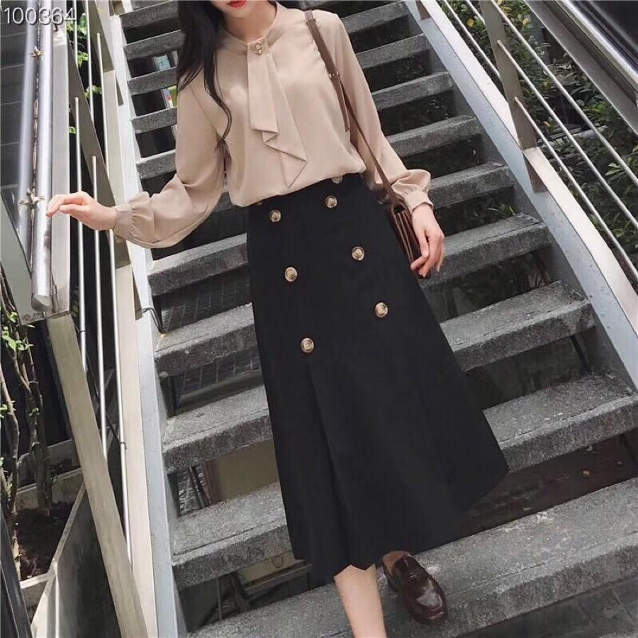 9ecdd07c8 Primavera y otoño de 2019 Faldas nuevas para mujer Falda larga de alta  calidad Falda hermosa t53