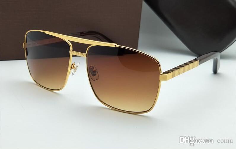 4b3c5d463 Compre Nova Moda Clássico Óculos De Sol Atitude Óculos De Sol Moldura De  Ouro Quadrado Metal Frame Estilo Vintage Design Ao Ar Livre Clássico De  Comu, ...