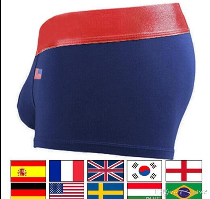 5685d544fc 2019 6 Pecs Mens Underwears Mens Designer Underpants Boxers Flags Color UK  USA CANADA 11 Countries Underpants Boxers Cotton Underwear For Men From  Flora1985 ...