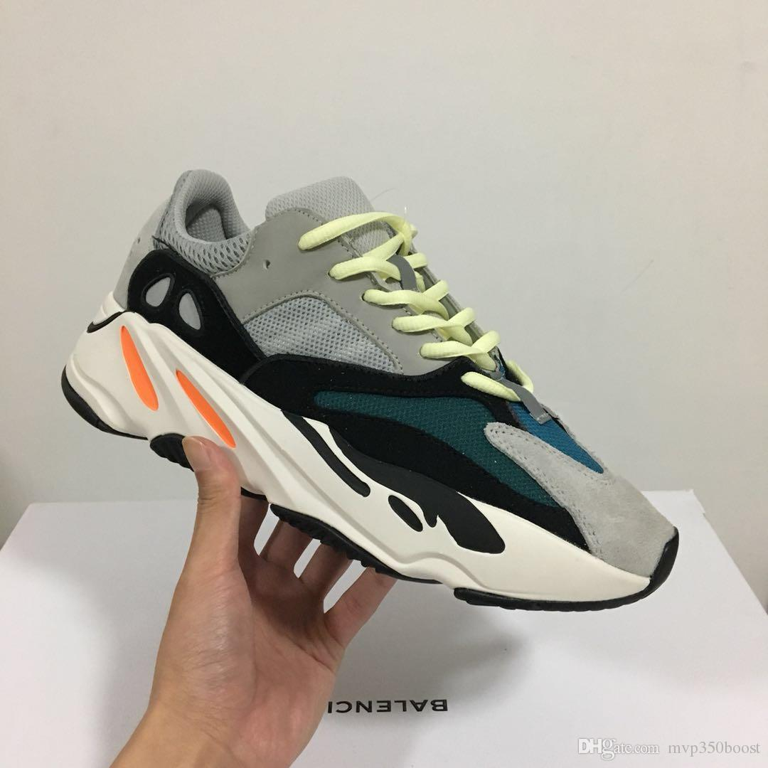 super popular 88ebf 5302b High quality+Box for Cheap Wave Runner Mauve 700 Brown Running Shoes for  Mens Women Trainers Kanye West x Sports Designer Sneakers US5-11.5