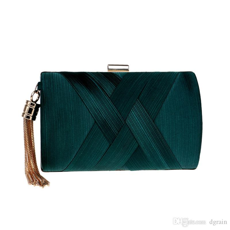 2146220319c Women Tassel Evening Clutches Bags 2019 Green Wedding Clutches Bridal  Handbags Party Cocktail Purses Designer Evening Whole Sale Clutches Purses  For Women ...