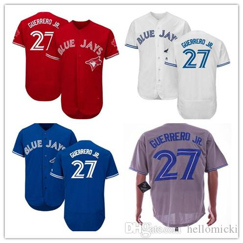 456eb51b 2019 2019 Blue Jays 27 Vladimir Guerrero Jr Men Toronto Jersey White Blue  Grey FlexBase Coolbase Stitched Baseball Jerseys From Hellomicki, $20.9 |  DHgate.