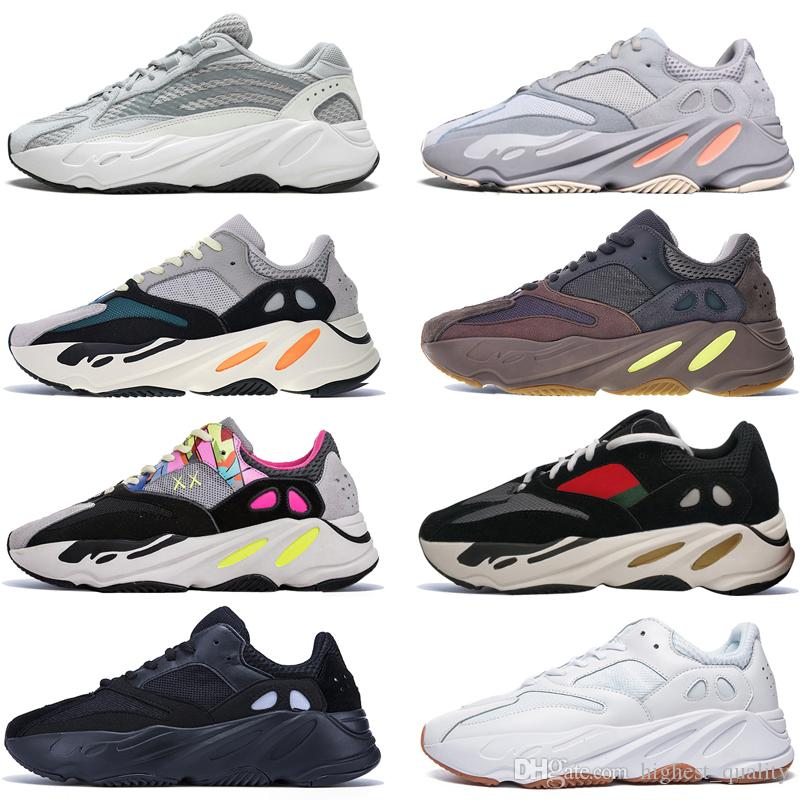 248b33208 Kanye West 700 V2 Static 3M Mauve Inertia 700s Wave Runner Mens Running  Shoes For Men Women Solid Grey Sports Sneakers Designer Size 5 11.5 Sports  Shorts ...