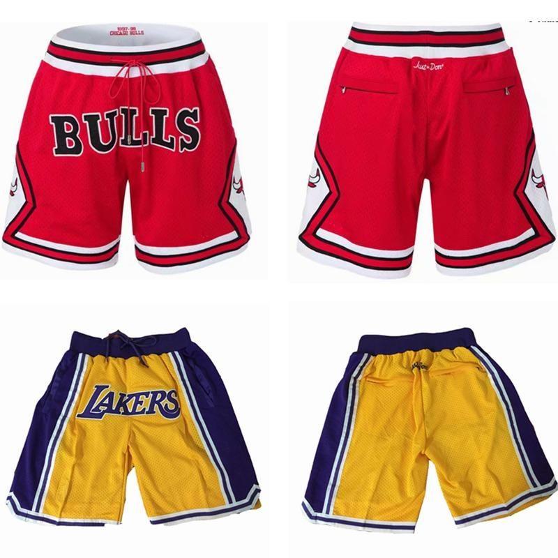 4cfcdcbf2391 All-Star Lakers Shorts Just Don Lebron Basketball Pants Retro FOG ...