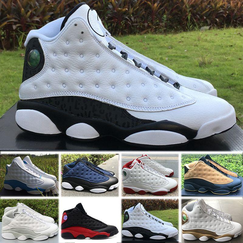 on sale 013dc c3df1 Großhandel Nike Air Jordan 13 Retro Basketball Shoes Mit Box 2018 Mode Neue  Designer Schuhe J13 Low Spurs Weiß Schwarz Casual Schuhe Schuh 13 Designer  ...