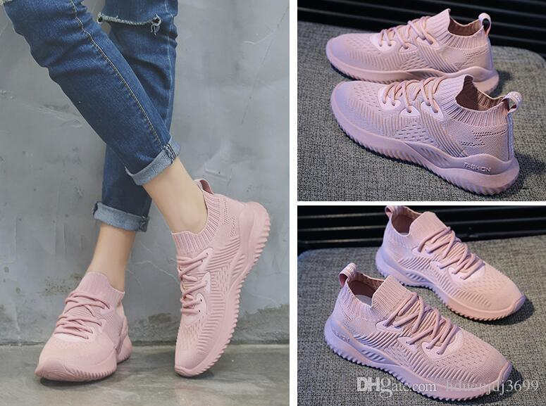 Women's shoe polo punk 2019 summer cross-border foreign trade flying woven socks shoes Korean ulzzang casual mesh sneakers old shoes women