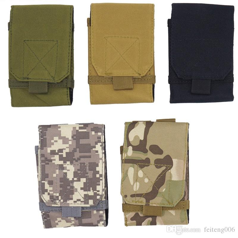 Useful Multifunction Outdoor Camping Hiking Tactical Phone Bag Men Camouflage Waist Bag Hook Loop Belt Pouch Oxford Cloth Mobile Case Low Price Climbing Bags