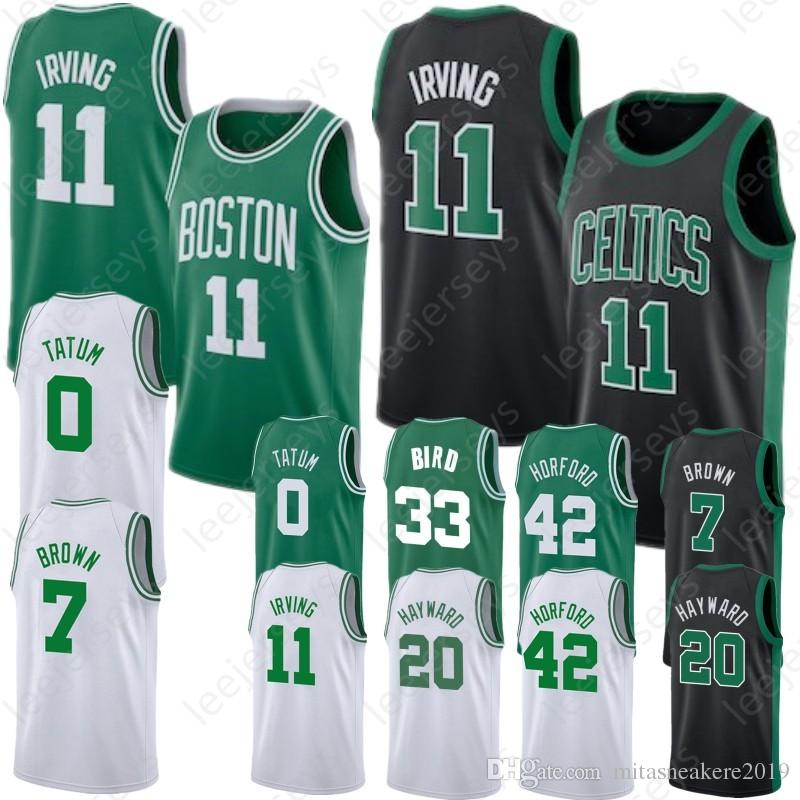 best loved 079f9 444cd Tatum 0 Jayson Boston Irving 11 Kyrie Celtics Jersey 20 Gordon 7 Jaylen  Hayward Brown 42 Al 33 Larry Horford Bird Smart 36 Marcus Stitched