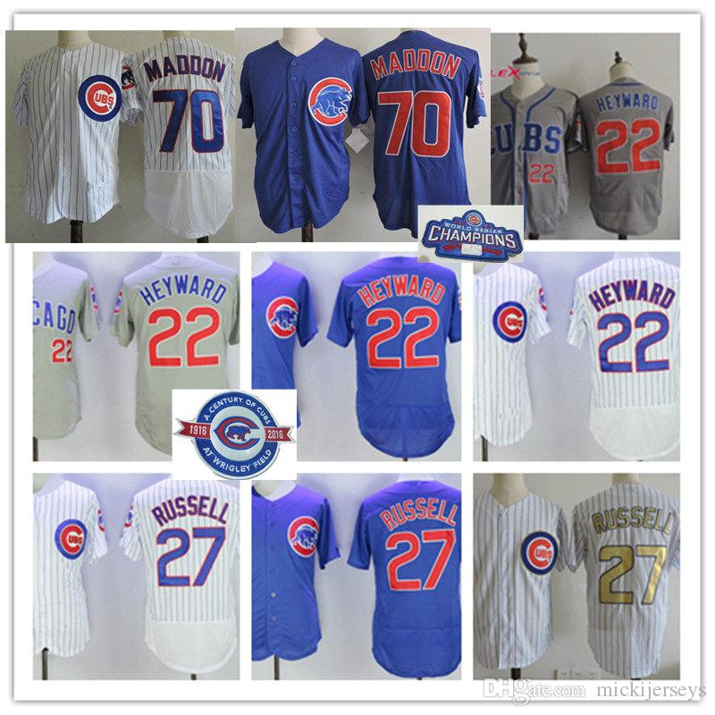 51ce6c6d3 get mens chicago cubs 22 addison russell gray jersey 00a55 84992