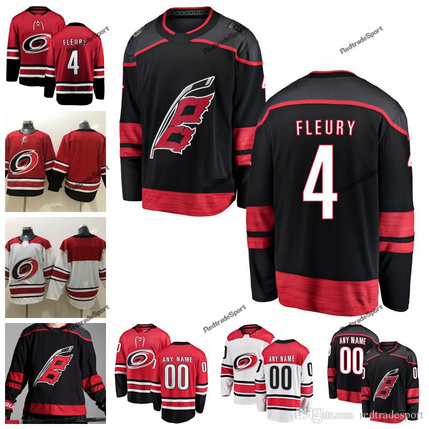 huge selection of 1b1a0 61dee 2019 Mens Carolina Hurricanes Haydn Fleury Hockey Jerseys Cheap New Black  #4 Haydn Fleury Stitched Jerseys Customize Name Number