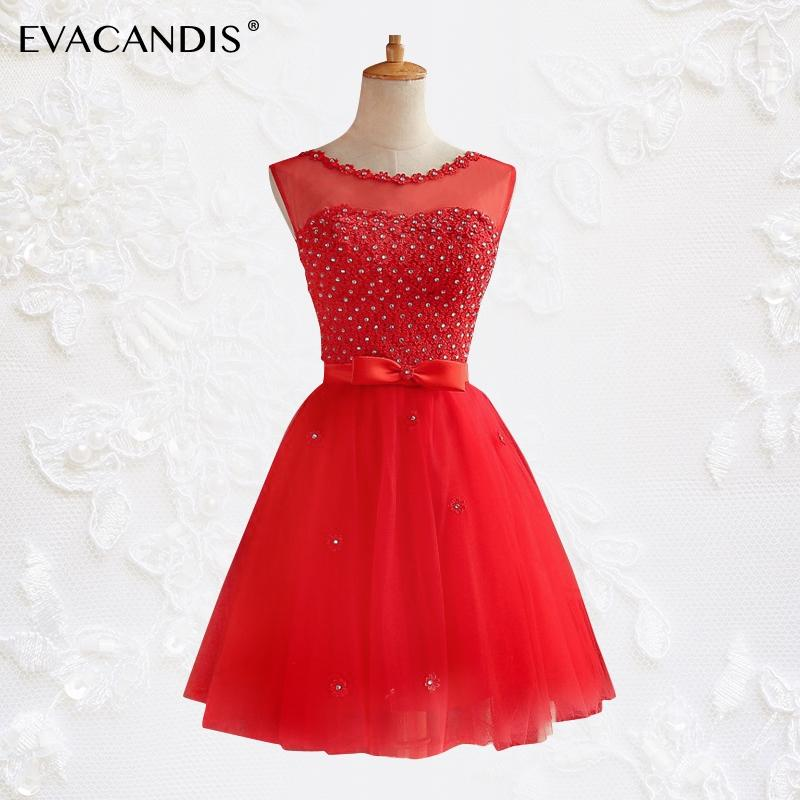 1e511cd03349 Short Party Dress Plus Size Mesh Sleeveless Sexy Backless Evening Dance  Prom Summer Dress Women Diamond Red Vestidos De Fiesta Affordable Prom  Dresses ...