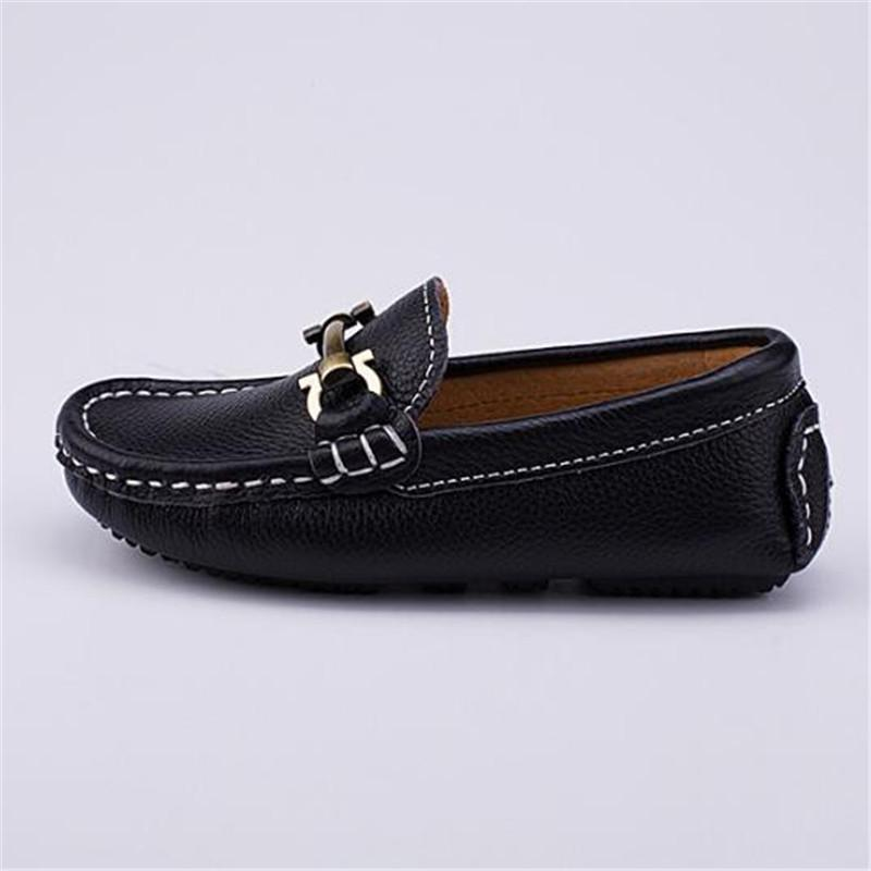 1eda577ce5e1 New Children Shoes Black White Genuine Leather Dress Toddler Baby Loafers  Student Breathable Casual Spring/Autumn Kids Shoes 02B Leather Baby Boy  Shoes ...