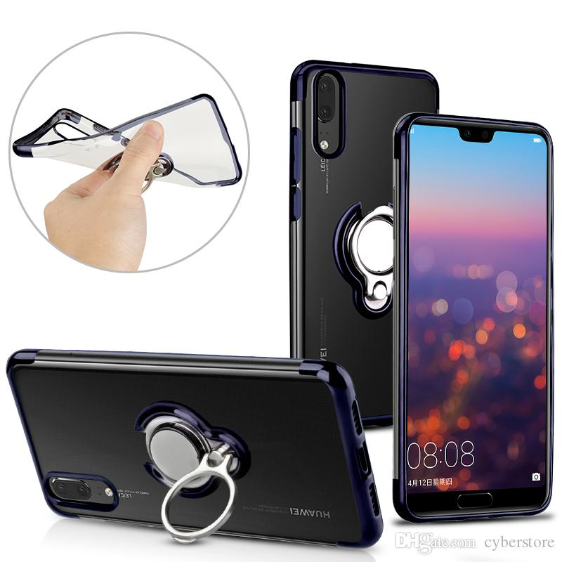 Transparent Coque TPU Transparent Souple En Silicone Souple Couverture Souple Support Pour Huawei Mate 20 Pro P20 Samsung S9 S8 Plus Note 9