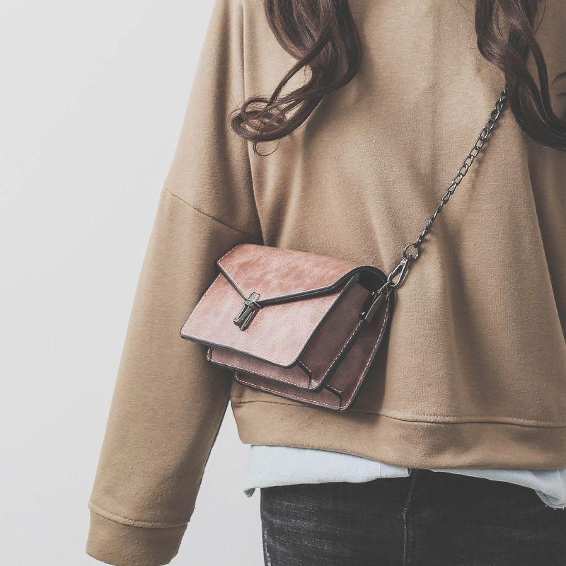 d695e412a5411 2019 Famous Brands Women Bag Chain Handbags Pu Leather Shoulder Bags Female  Luxury Designer Crossbody Bags Ladies Bags 320 Man Bags Crossbody Purses  From ...
