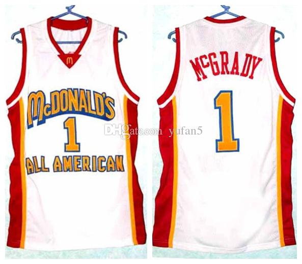 3d21dd4f1 2019 TRACY McGRADY McDonald S All American Retro Basketball Jersey Mens  Stitched Custom Number Name Jerseys From Yufan5
