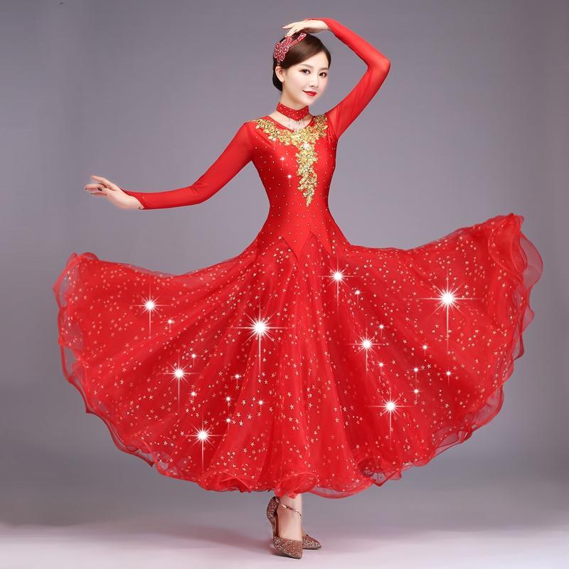 df9c206c4 2019 Customize Standard Ballroom Dance Dress Women Performance Dance  Competition Dresses Wear Modern Costume Waltz Dress From Ferdinand07,  $138.84   DHgate.