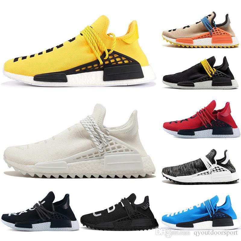18ce979668791 2019 2019 Runner Cheap Luxury Human Race NMD Men Women Trainers Solar Pack  Black Yellow PW HU HOLI Pharrell Williams Designer Sport Sneakers From ...