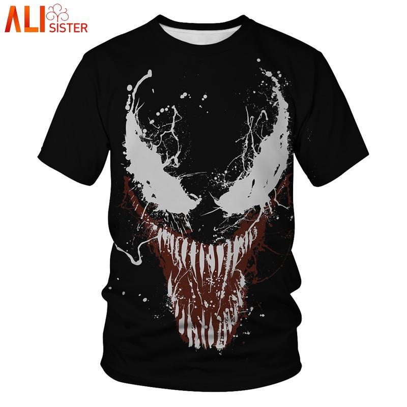 7f55ff2897 Venom Compression Shirt 3D Printed T Shirts Men 2019 Summer Cosplay ...