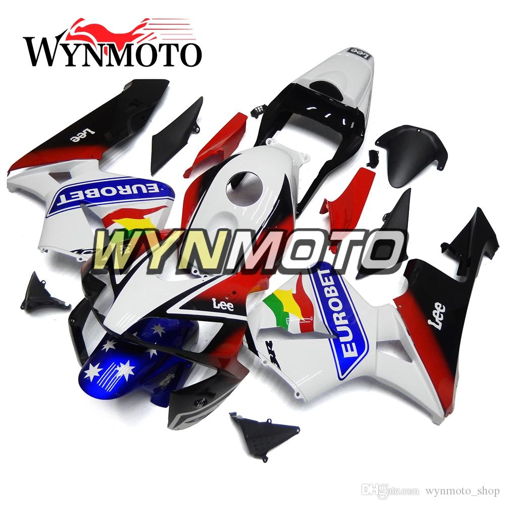 Colorful Flag Style Motorcycle Fairings For Honda CBR600RR 2003 2004 F5 03 04 ABS Plastic Injection motorbike Kits cowlings covers