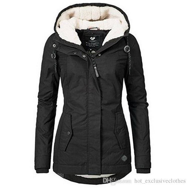 f988a2d2317 2019 new Women's Jackets Winter Coat Women Cardigans Ladies Warm Jumper  Fleece Faux Fur Coat Hoodie Outwear