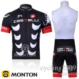 2018 New Castelli Short Sleeve Cycling Jersey Bib Sets Bike Clothing ... 83ef7c644