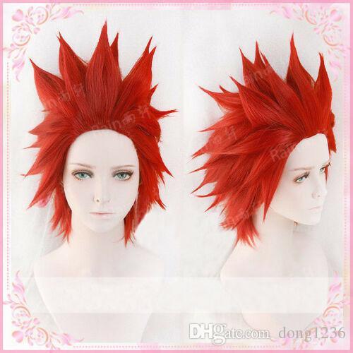 Eijirou Kirishima Wig My Hero Academia Eijiro Red Cosplay Hair Wig Wig Cap