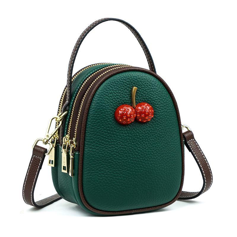 7970229cf529 Luxury Genuine Leather Handbag Women 2019 Small Cherry Vintage Shell ...