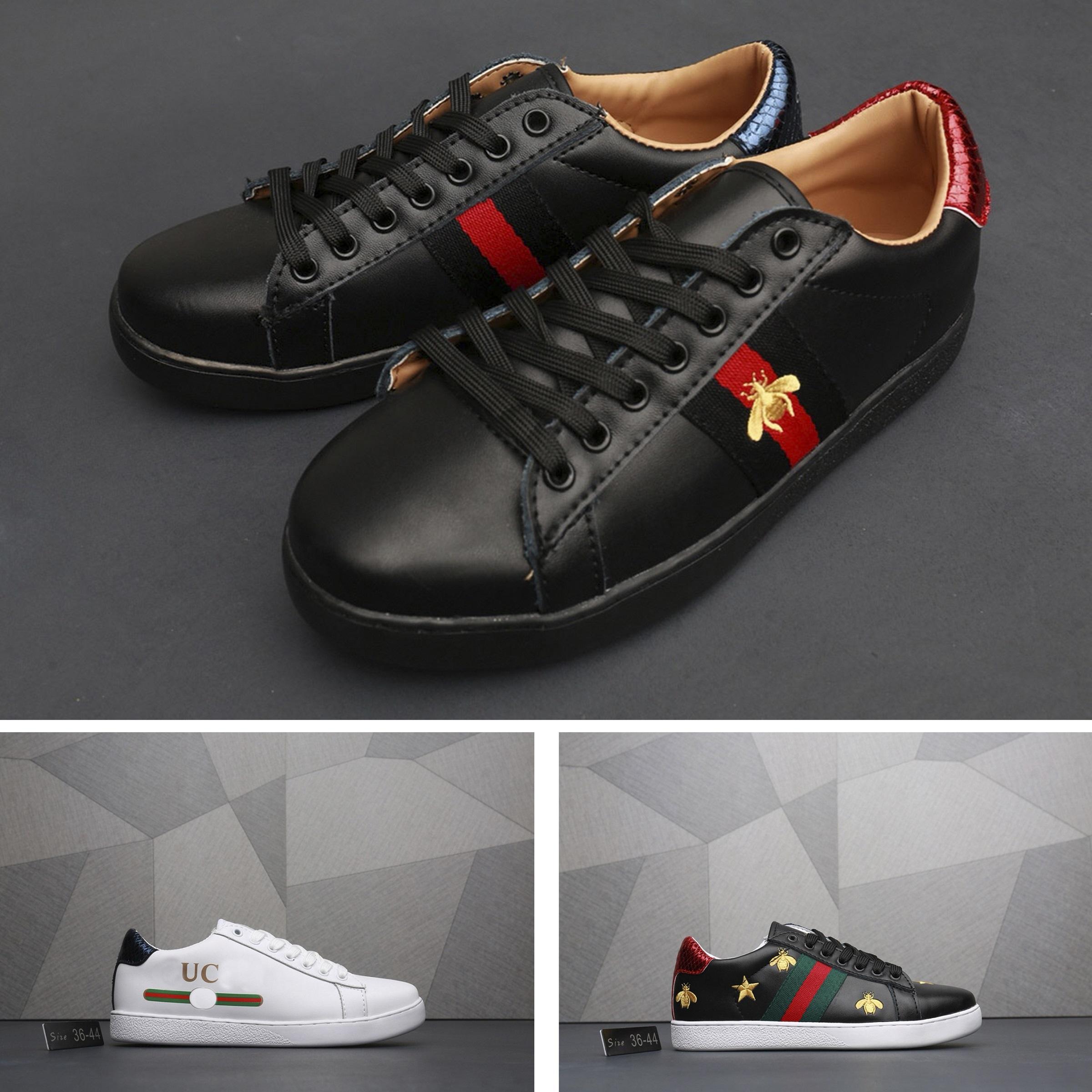 3b6108edaa3bb Compre Gucci Men Shoes Gucci Women Shoes Gucci Sneakers La Marca De Lujo  Europea Más Vendida Zapatillas De Tenis Zapatillas De Diseño De Piel De  Cordero ...