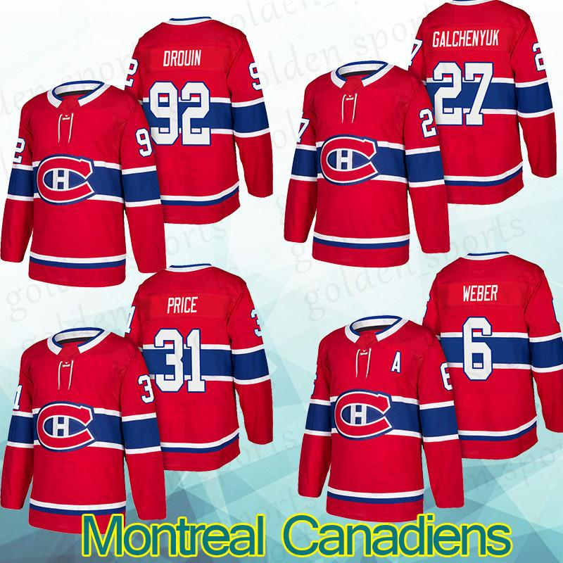 brand new 68807 1c396 Montreal Canadiens Jersey 92 Jonathan Drouin 27 Alex Galchenyuk 31 Carey  Price 6 Shea Weber shirt Long sleeves top quality