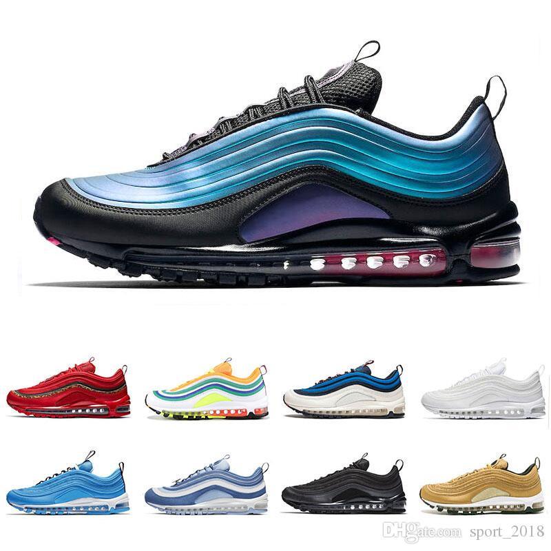 2019 nike air max 97 hochwertige Laufschuhe für Herren Damen Throwback Future Iridescent LONDON SOMMER OF LOVE Herren Sneakers Fashion Sport Sneakers